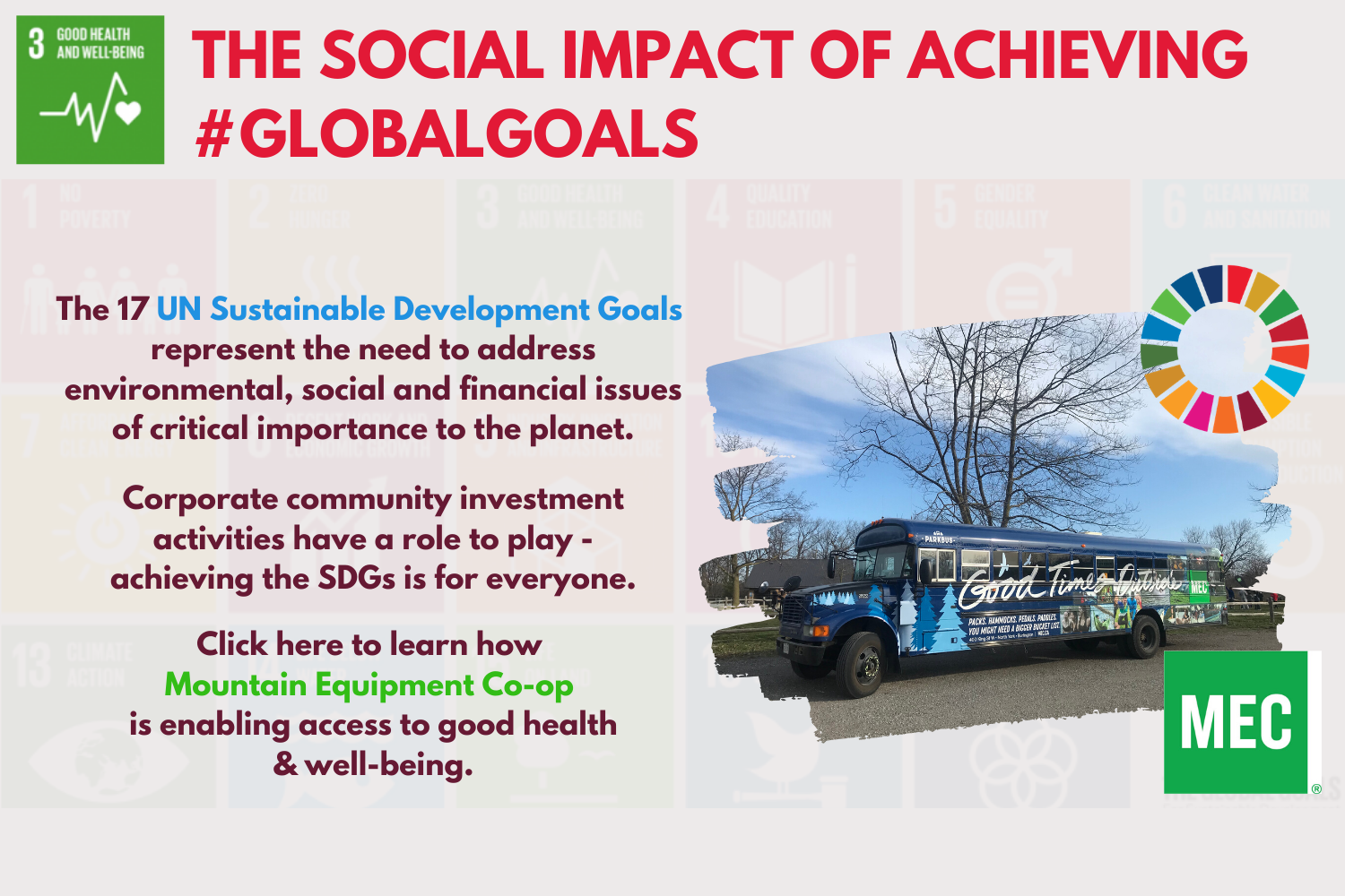 #SDGs 3, 13, 14, 15 – Good Health & Well-Being, Climate Action, Life Below The Water, Life On Land