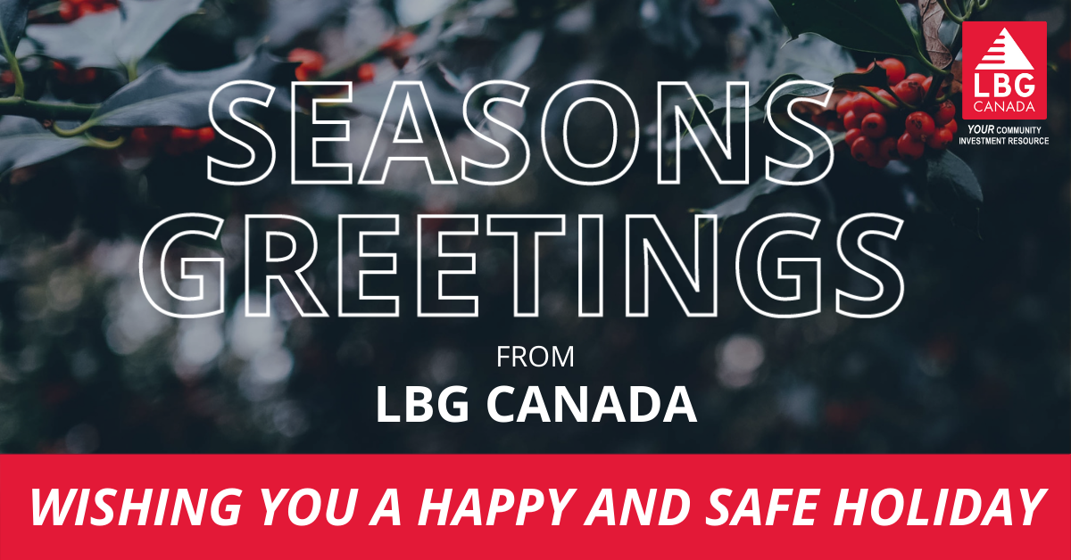 December News And Season's Greetings From LBG Canada!